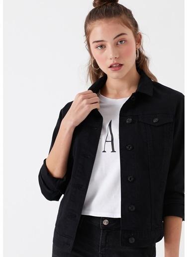 Mavi Jean Ceket | Daisy - Yarı Dar Kalıp Siyah